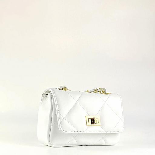 Bolso mini 19 acolch blanco
