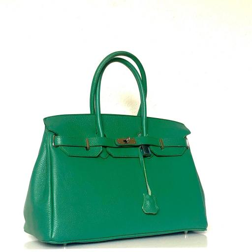 Bolso handbag candado verde [1]