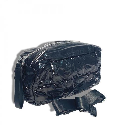 Bandolera metalizada negro