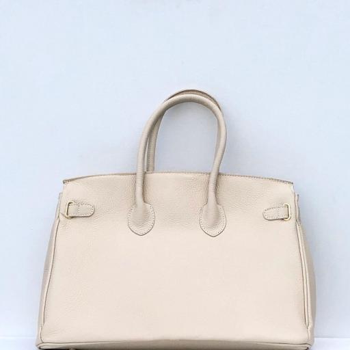 handbag candado beigge/ dorado  [2]