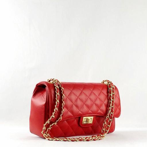 Bolso acolchado clasic rojo [1]