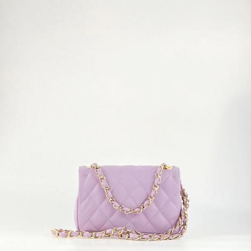 Bolso mini acolchado lila [1]