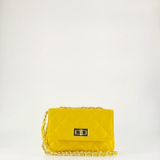 Bolso mini acolchado Amarillo