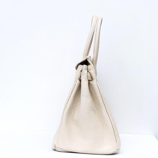 handbag candado beigge/ dorado  [1]