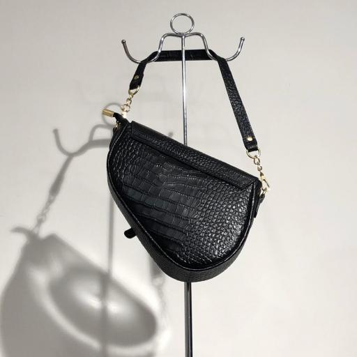Labrado silla de montar piel negro [1]
