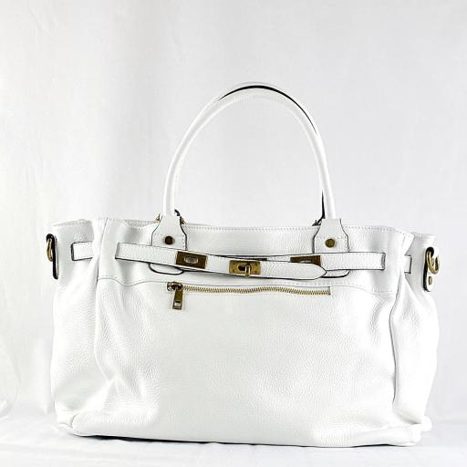 Handbag cremallera blanco [1]