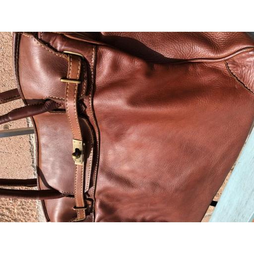 handbag candado marrón  piel lavada [1]