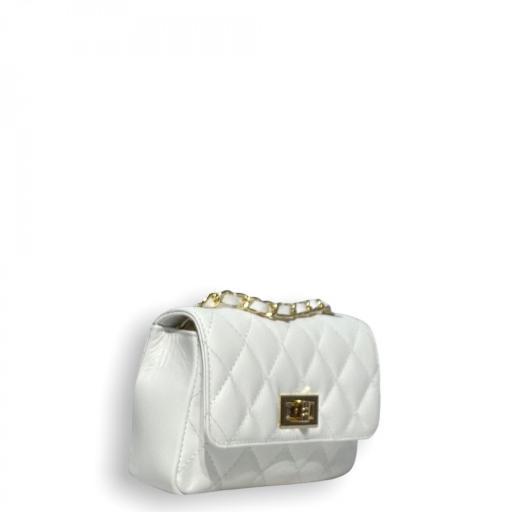 Bolso mini acolchado Blanco [3]