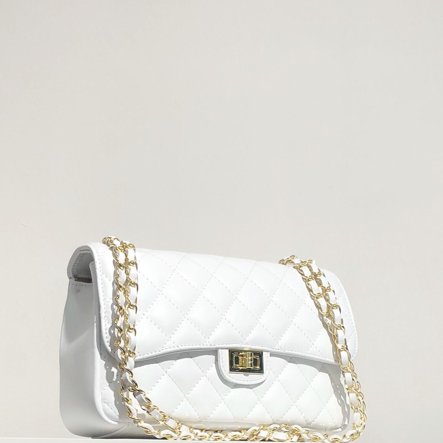 Bolso acolchado clasic blanco