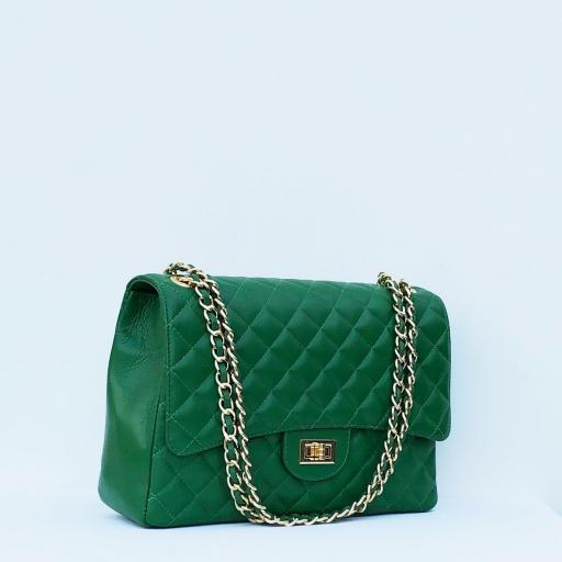 Bolso acolchado Maxi clasic verde [3]