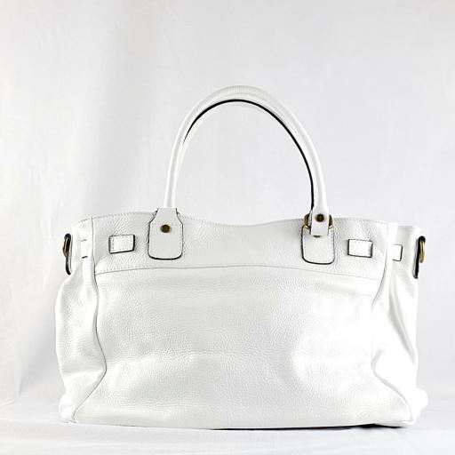 Handbag cremallera blanco [2]