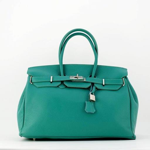 handbag candado turquesa