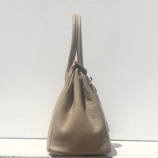 Handbag candado beigge oscuro [3]