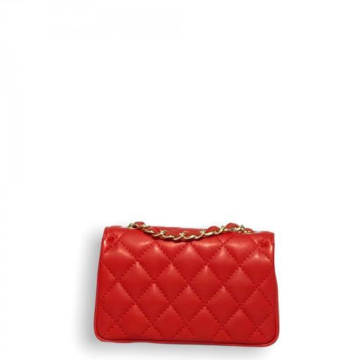 Bolso mini acolchado Rojo [2]