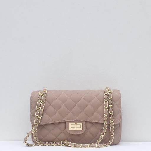 Bolso acolchado clasic rosa
