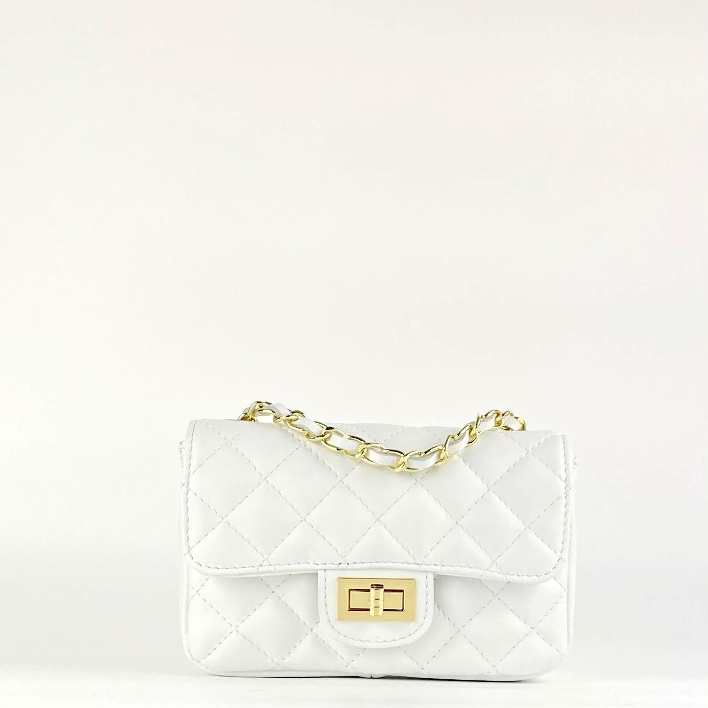 Bolso mini acolchado Blanco