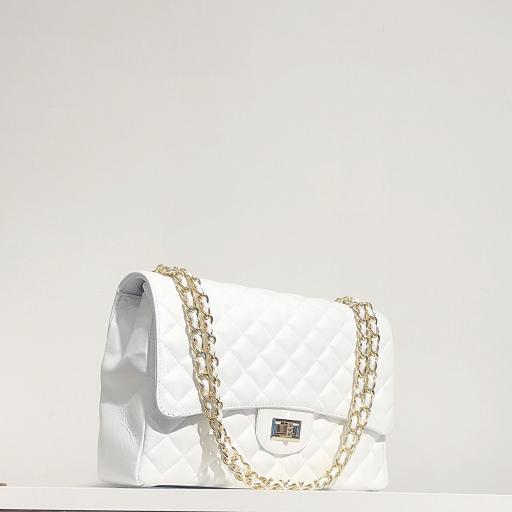 Bolso acolchado Maxi clasic blanco [2]