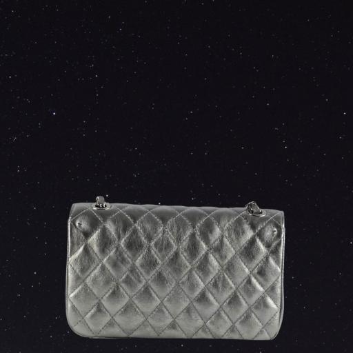 Bolso acolchado clasic plata [1]