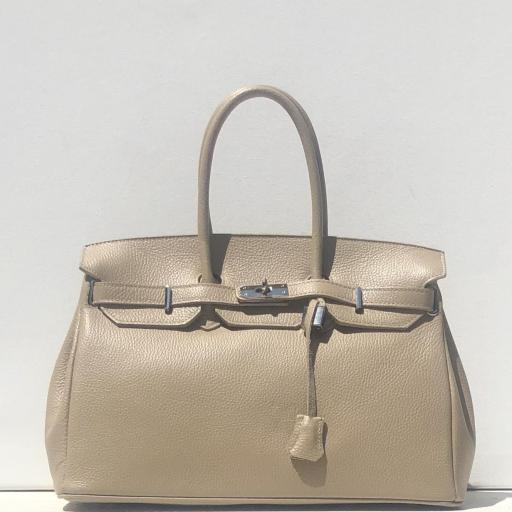 Handbag candado beigge oscuro