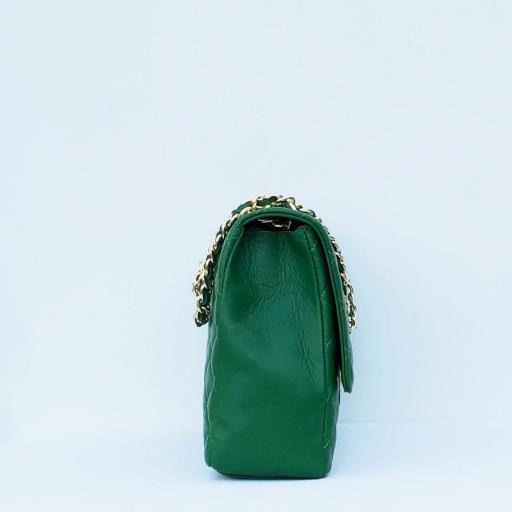 Bolso acolchado Maxi clasic verde [1]