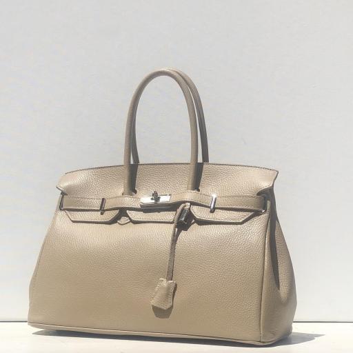 Handbag candado beigge oscuro [1]