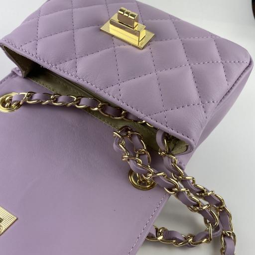 Bolso mini acolchado lila [2]