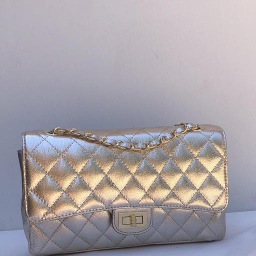 Bolso acolchado clasic dorado [2]