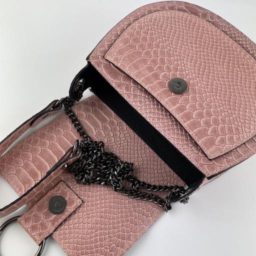 Bandolera midi anillas rosa [3]