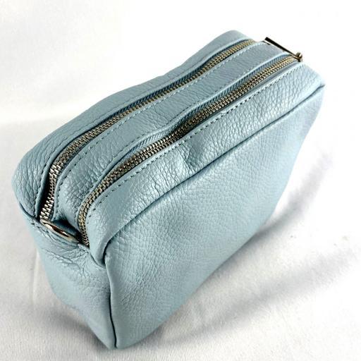 Bandolera basica doble azul [1]