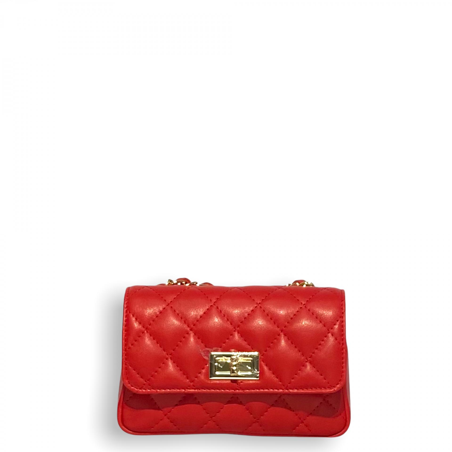 Bolso mini acolchado Rojo