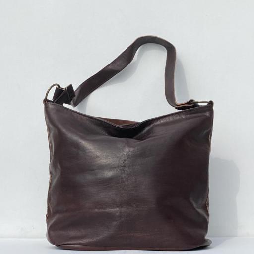 Bolso hebillas marrón oscuro [3]