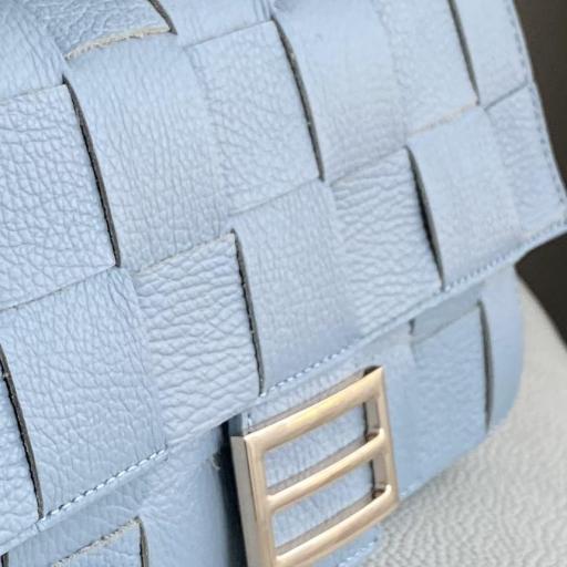 Baguette  piel azul [1]