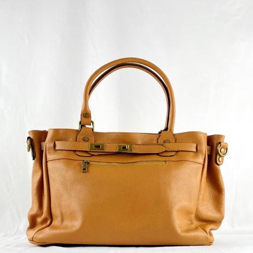 Handbag cremallera camel [2]