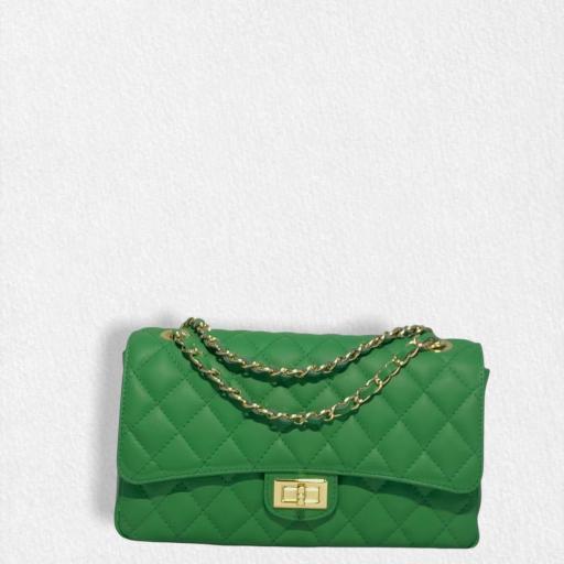Bolso acolchado clasic verde