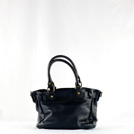 Handbag cremallera negro mini [2]