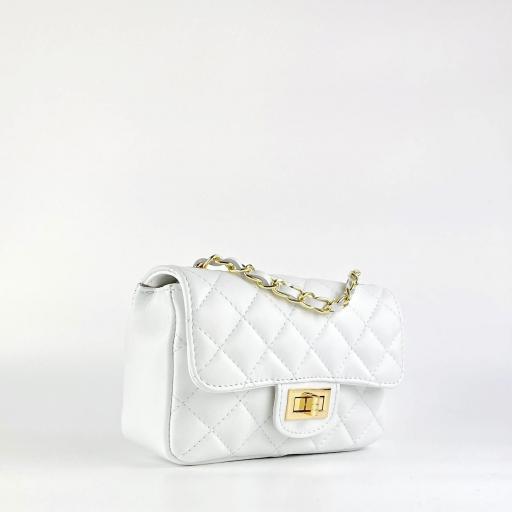 Bolso mini acolchado Blanco [2]
