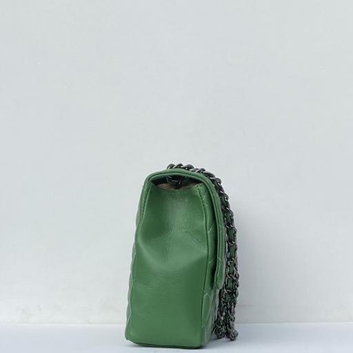 Bolso acolch Maxi verde cad platino [2]