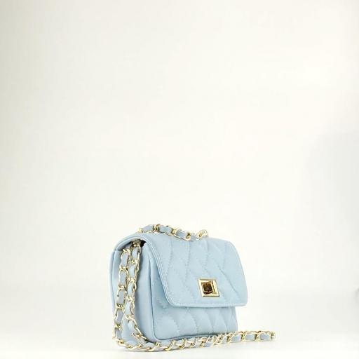 Bolso mini acolchado Azul