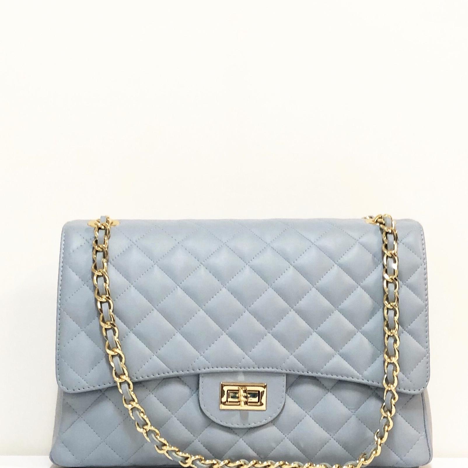 Bolso acolch Maxi azul claro