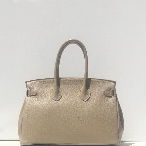 Handbag candado beigge oscuro [2]