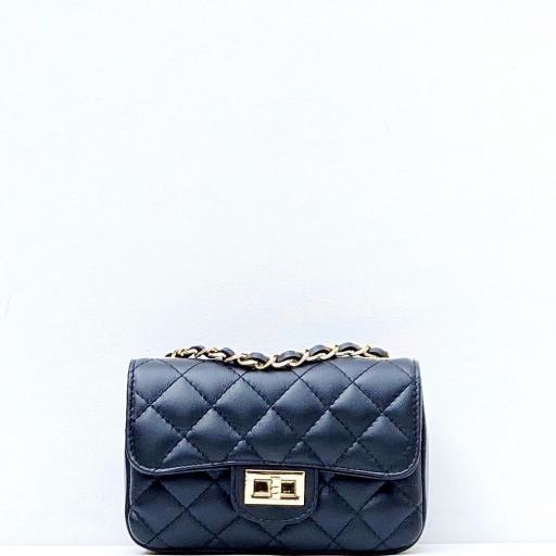 Bolso mini acolchado negro