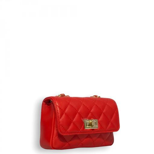 Bolso mini acolchado Rojo [1]