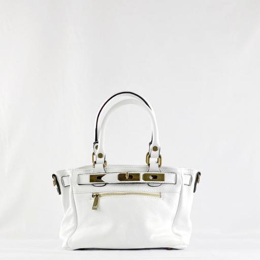 Handbag cremallera blanco mini [1]
