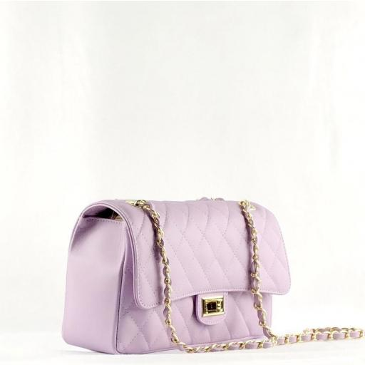 Bolso acolchado clasic lila [1]