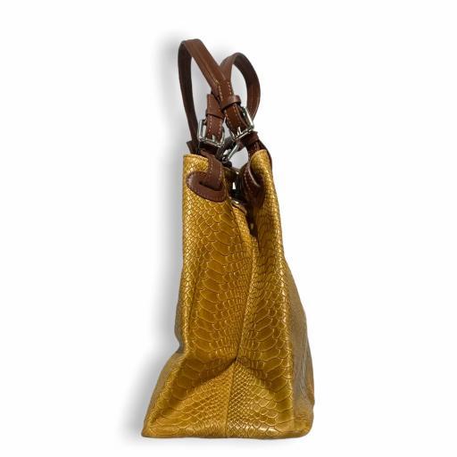 bolso shopper Cocodrilo camel  [1]