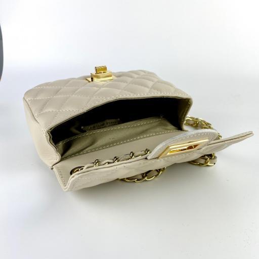 Bolso mini acolchado Beigge [1]