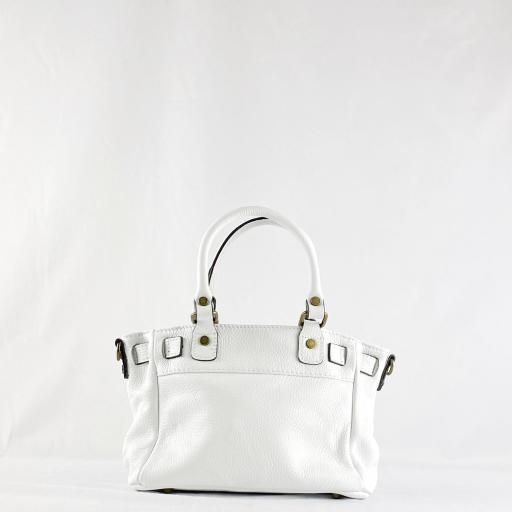 Handbag cremallera blanco mini [2]