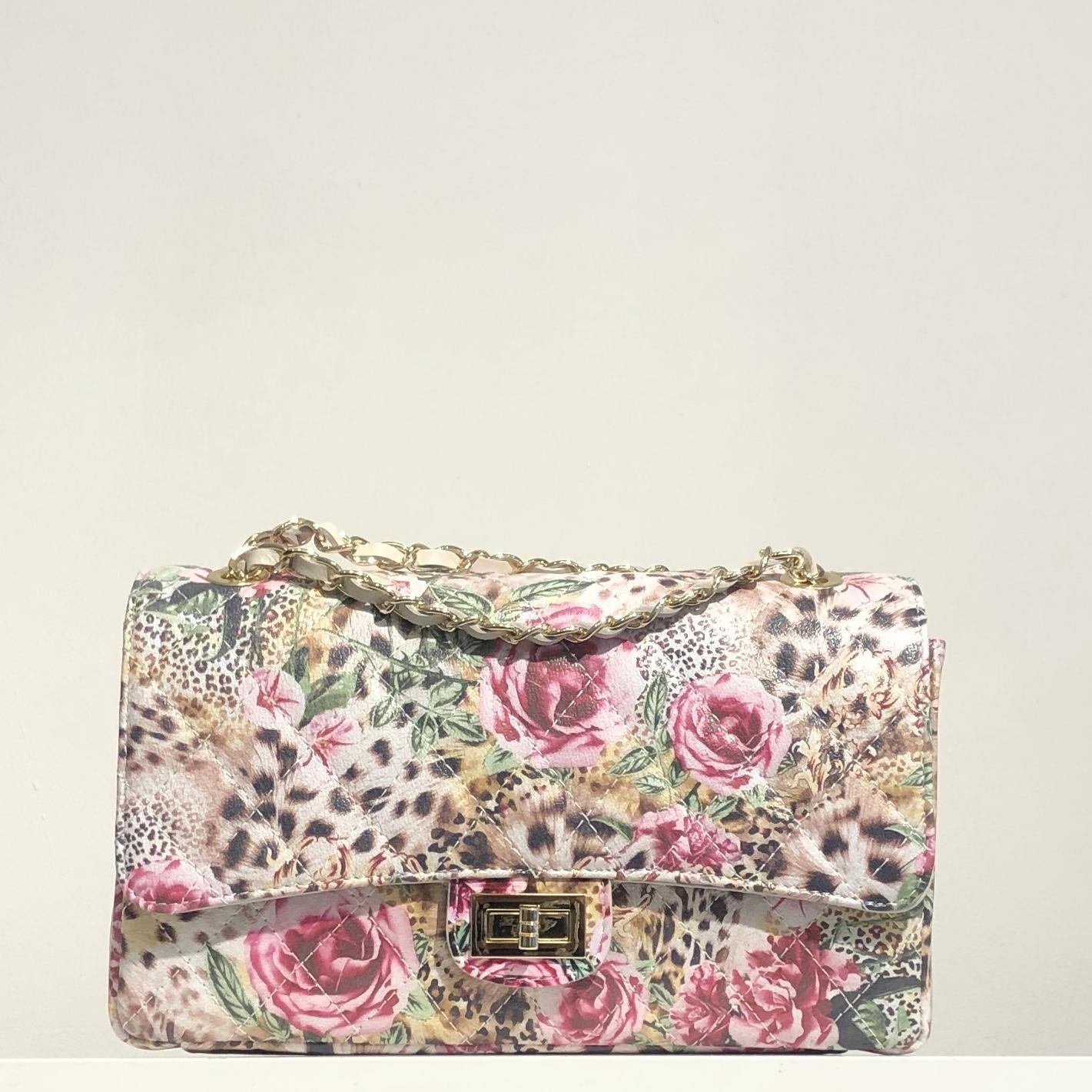 Bolso acolchado clasic estampado floral
