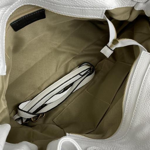 Handbag cremallera blanco mini [3]