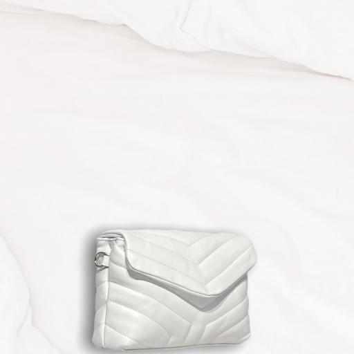 Bandolera mini acolch blanca [2]